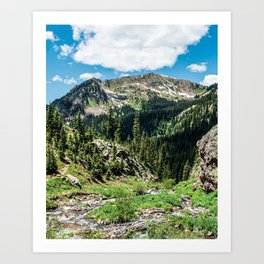 No Trails to the Top // Incredible Hiking Views Blissful Beauty Peaceful Landscape Photography Art Print