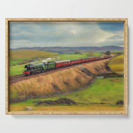 The Flying Scotsman Locomotive Serving Tray
