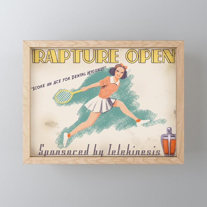 Bioshock ADS Poster - Rapture Open Framed Mini Art Print