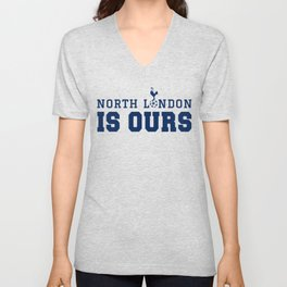 "Tottenham hotspurs tshirt, The Spurs to Dare is to Do ""Audere est Facere"" champions league final mad Unisex V-Neck"