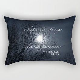 Forever Dark Rectangular Pillow