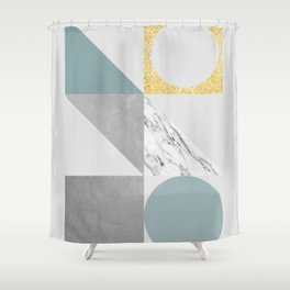 Modern geometric art V Shower Curtain