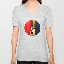 Raining colour  Unisex V-Neck