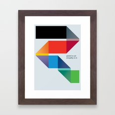 Empathy Framed Art Print