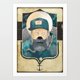 Modern day Pirate. Art Print