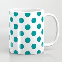 Polka Dots (Teal/White) Coffee Mug