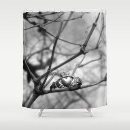 Claddagh Ring Shower Curtain