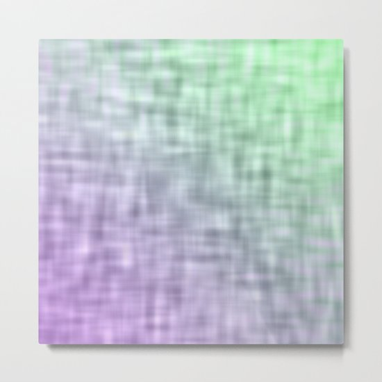 Green and purple mist abstract design Metal Print