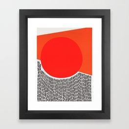 Sunshine And Rain Abstract Framed Art Print