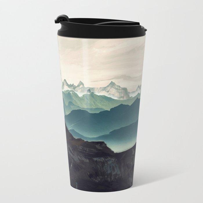 Shades of Mountain Metal Travel Mug