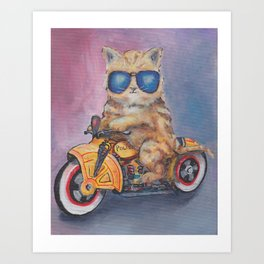 Kitty Cop Art Print