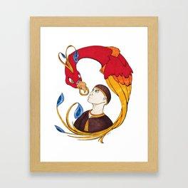 The Boy and the BulBul Framed Art Print