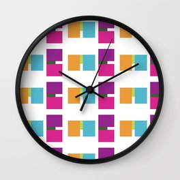 ME ME ME pattern Wall Clock