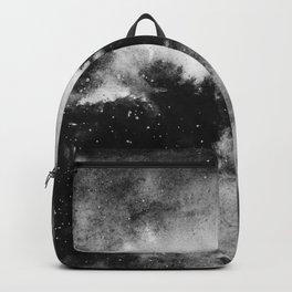 Black Watercolor Galaxy Backpack