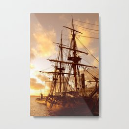 PIRATE SHIP :) Metal Print