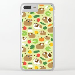Guinea Pig And Its Treats Clear iPhone Case