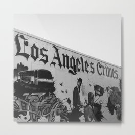 Melrose Street Art Los Angeles Crimes  Metal Print