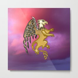 Griffin Knot Metal Print