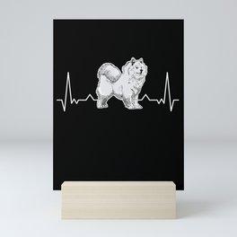 Samoyed Heartbeat Sled Dog Mini Art Print