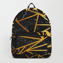 GEOMETRIC BLACK MARBLE Backpack
