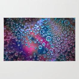 Magic iridescent colorful dew drops Rug