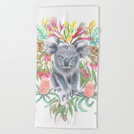Home Among the Gum leaves Beach Towel