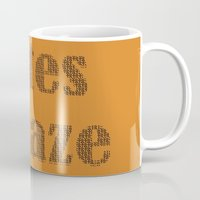 totes Mugs featuring Totes Amaze orange by PintoQuiff