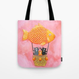 The Cats Whimsical Adventure Tote Bag