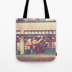 A Star is Born. Seattle Starbucks photograph Tote Bag