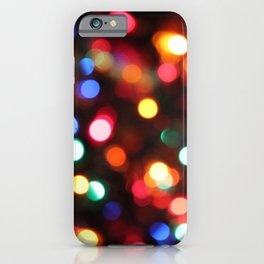 Colored Christmas Lights (2) iPhone Case