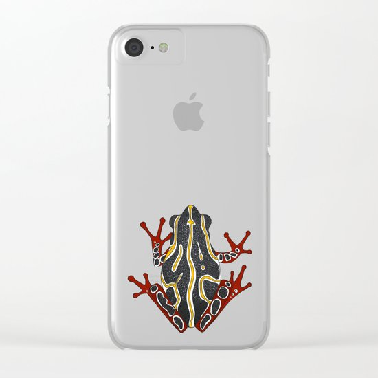 congo tree frog gold Clear iPhone Case