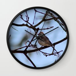sparrow on branch Wall Clock