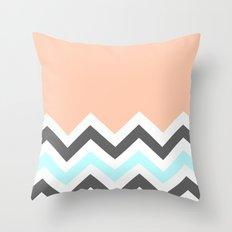 Color Blocked Chevron 11 Throw Pillow