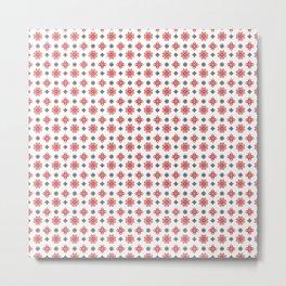 Pixel Christmas Pattern Metal Print