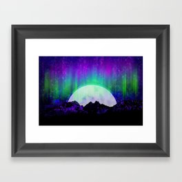Under the Northern Lights Framed Art Print