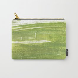 Moss green abstract watercolor Carry-All Pouch