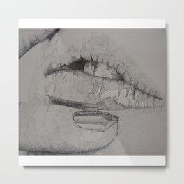Lips Metal Print