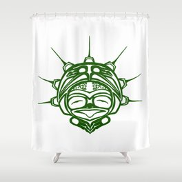 Grass Frog Spirit Shower Curtain