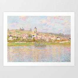 The Landscape of Vetheuil - Impressionist Painting Art Print