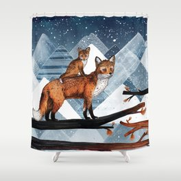 Fox Wood Shower Curtain