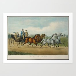 Four-in-Hand, Currier & Ives (American, active New York, 1857–1907) Art Print