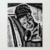 fitzgerald Canvas Prints featuring Ella Fitzgerald by BFly Designs by Tanysha B.