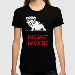 Beast Mode English Bulldog T-shirt