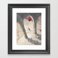 Red Balloon Framed Art Print