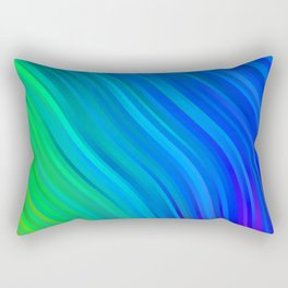 stripes wave pattern 1 stdv Rectangular Pillow