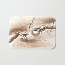 The Creation of Coffee Bath Mat