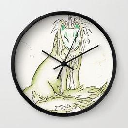 Moss Hidden Kitsune.  Wall Clock