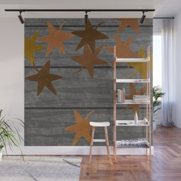 The falling leaves Wall Mural