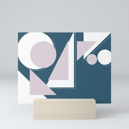Geometric Shapes Abstract Mini Art Print