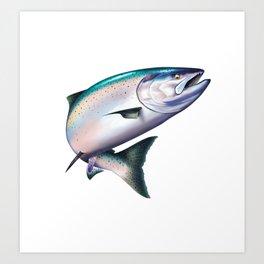 King Salmon Chinook Art Print